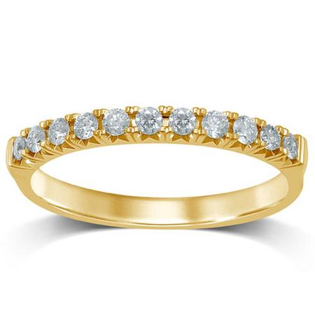 10K 0.25CTW Diamond Band- 11 Stone