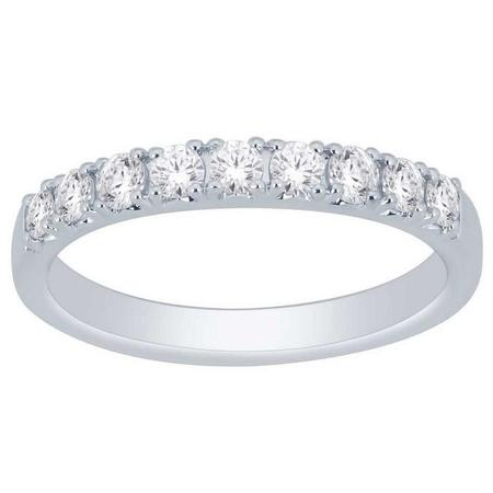 10K 0.50CTW Diamond Band- 9 Stone