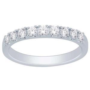 10K 0.50CTW Diamond Band- 9 Stone