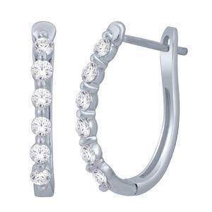 0.50CTW Pronounced Diamond Earrings