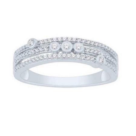 Three Row Diamond Fashion Ring