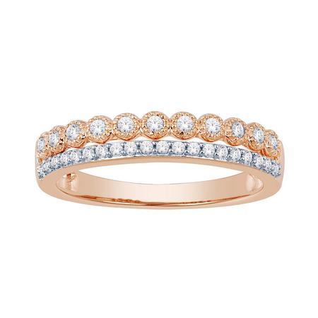 Two Row Diamond Fashion Ring
