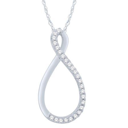 Diamond Ribbon Pendant