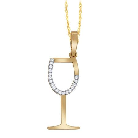 Diamond Wine Glass Pendant