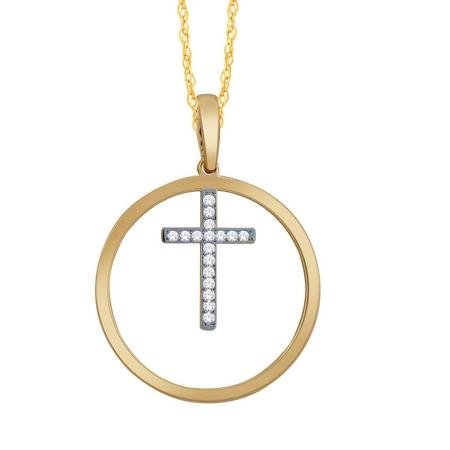 Circle Cross Pendant