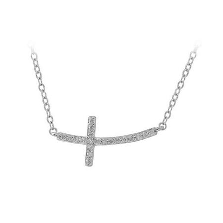 Sideways Diamond Necklace