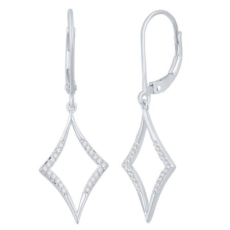 Kite Shaped Diamond Dangle Earrings