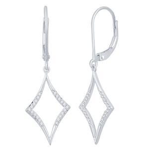 Kite Shaped Diamond Dangle Earrings