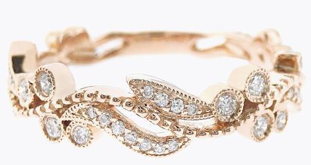 Floral Design Diamond Ring