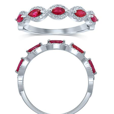 Ruby and Diamond Fashion Ring
