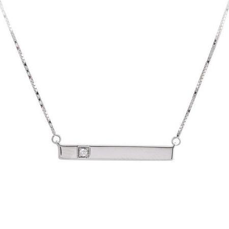 Single Diamond Bar Pendant
