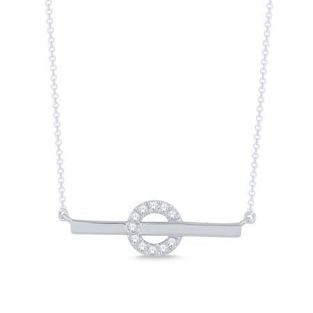 Bar-Through-Circle Pendant