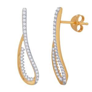 Diamond Ribbon Earrings