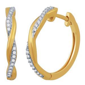 Diamond Twist Hoops
