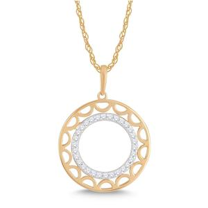Round Shaped Negative Space Diamond Pendant