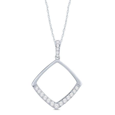 Cushion Shaped Diamond Pendant