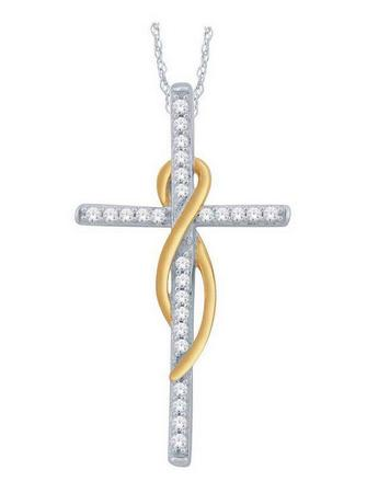 Diamond Infinity Cross Pendant