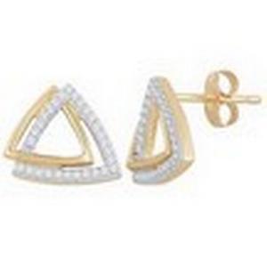Triangular Diamond Earrings