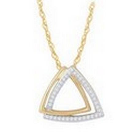 Triangular Diamond Pendant