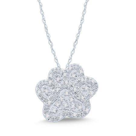 Paw Print Diamond Pendant