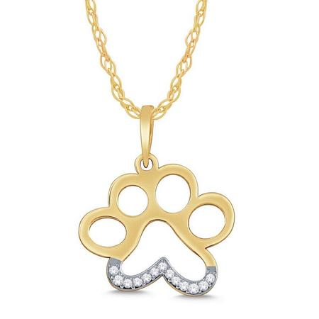 Negative Space Paw Print Pendant