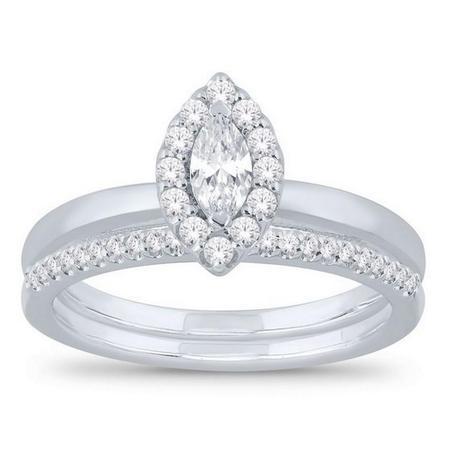 Marquise Shaped Bridal Set