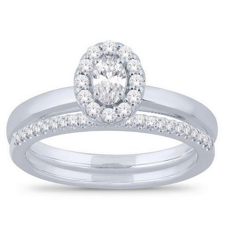 Oval Shaped Bridal Set