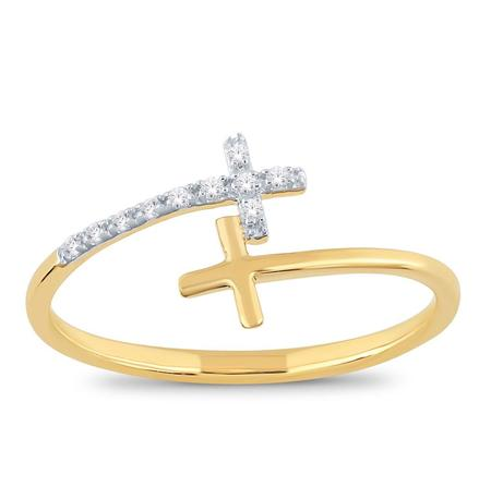 Double Cross Bypass Ring