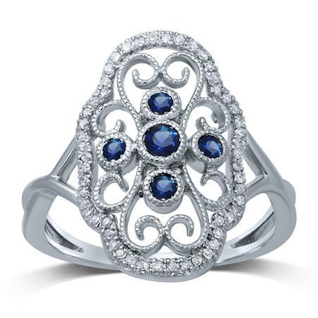 Vintage Style Gemstone Ring