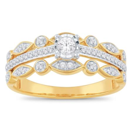 Three Band Diamond Ring