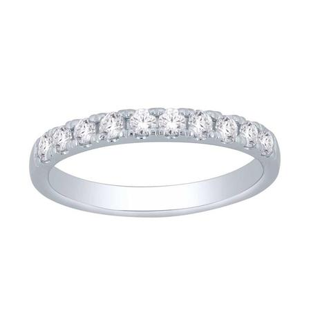 14K 0.50CTW Diamond Band- 10 Stone