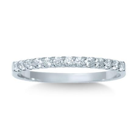 14K 0.25CTW Diamond Band- 11 Stone