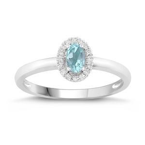 Oval Shaped Birthstone Ring- Aquamarine