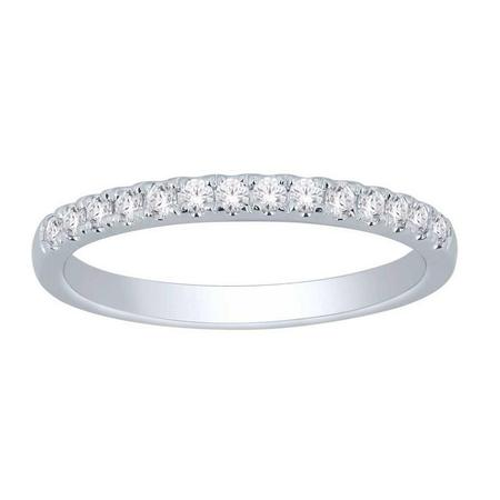14K 0.25CTW Diamond Band- 14 Stone
