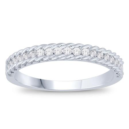 14K 0.25CTW Diamond Band- Knotted