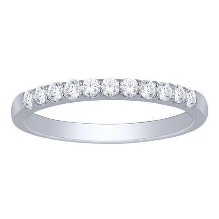 14K 0.50CTW Diamond Band- 11 Stone