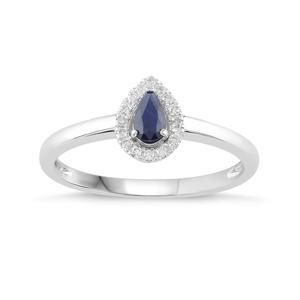 Pear Shaped Birthstone Ring- Sapphire