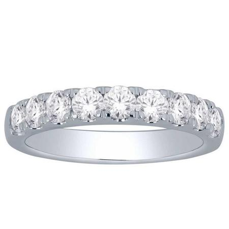 14K 1.00CTW Diamond Band- 9 Stone