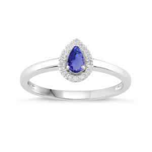 Pear Shaped Birthstone Ring- Blue Topaz